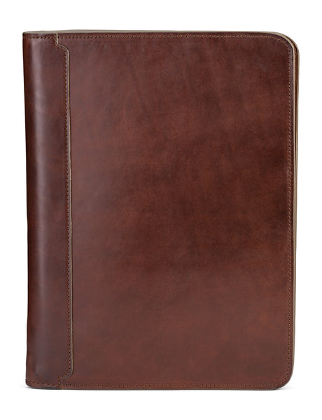 vegetable tanned bridle leather portfolio padfolio by jackson wayne