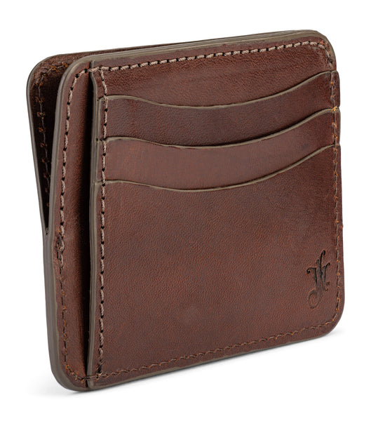 9 pocket slim wallet in vegetable tanned bridle leather by jackson wayne