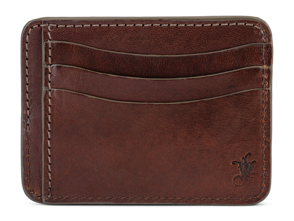 men's slim leather wallet for front pocket - high capacity 9 pockets