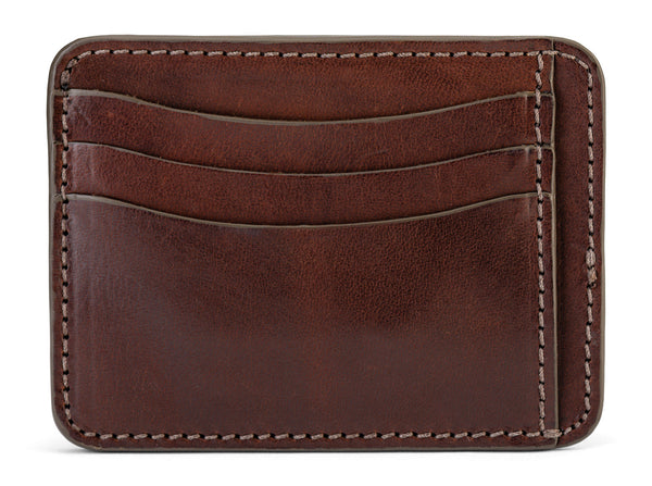jackson wayne full grain leather slim wallet in vintage brown