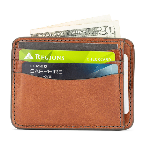 full grain leather slim wallet