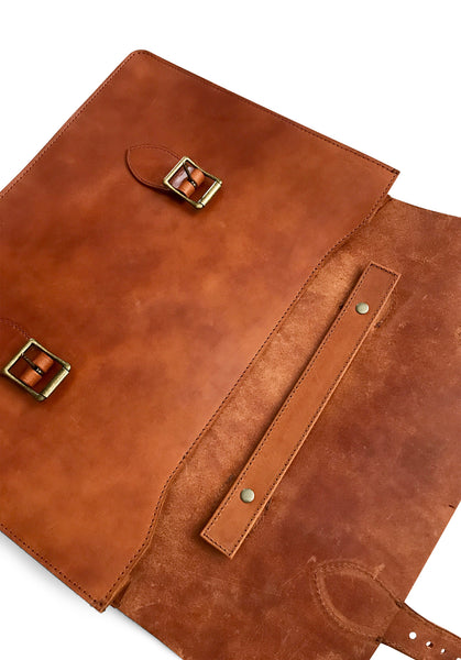 bridle leather attache