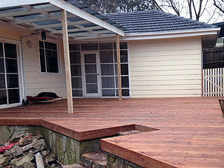 140mm timber deck construction in Croydon
