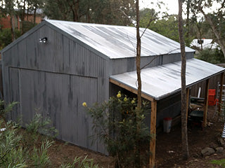 Structural renovations to a large shed in Eltham