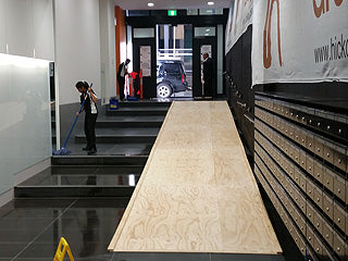 Sheet ramp construction in the Melbourne CBD