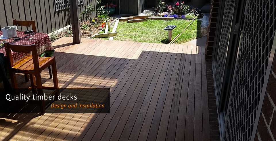 Quality timber decks - Design and installation