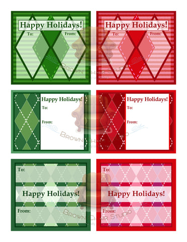 Christmas Gift Tags - Argyle