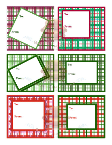 Christmas Gift Tags - Plaid