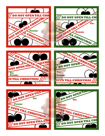 Christmas Gift Tags - Do Not Open Till Christmas
