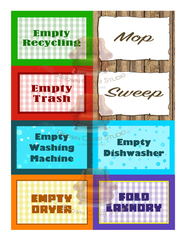 Household Chore Reminder Tags