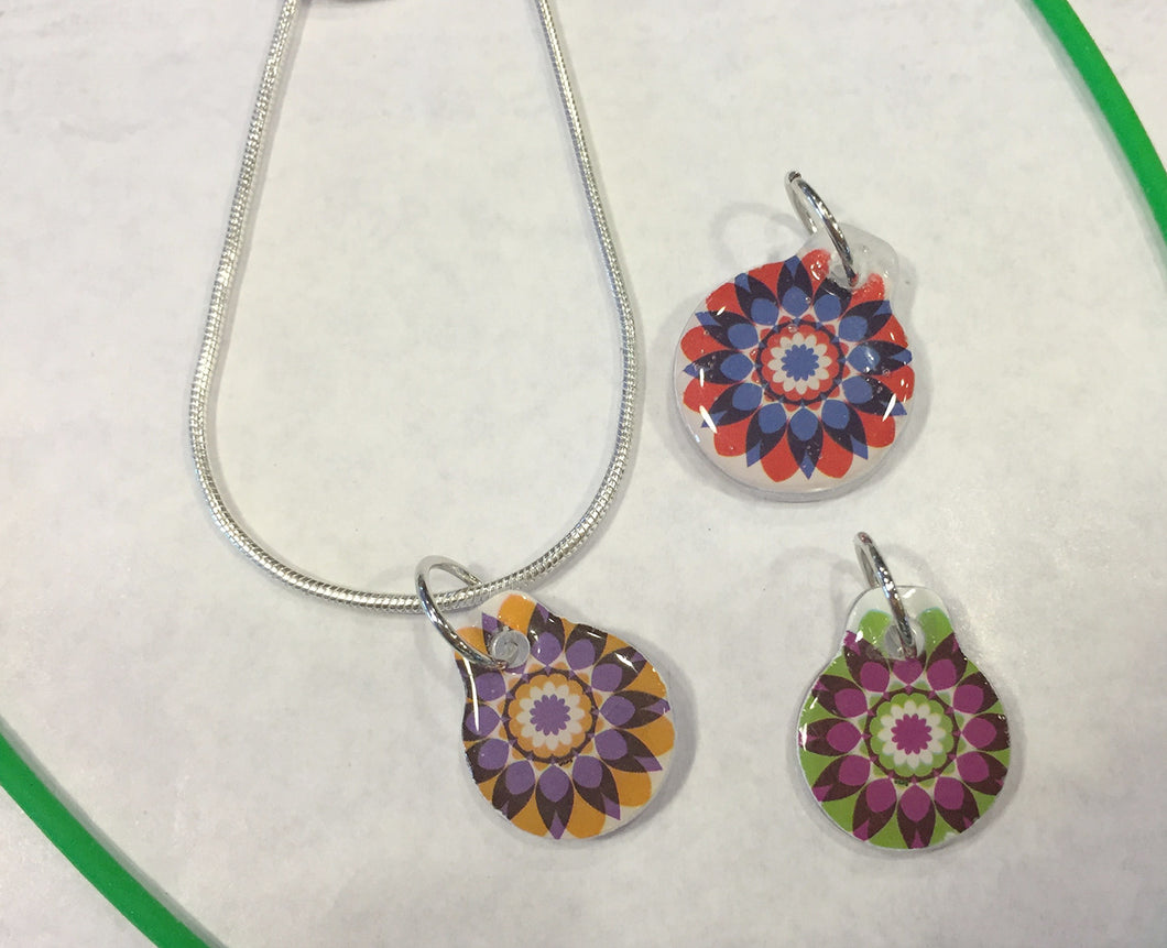Kaleidoscope Stamp Charms
