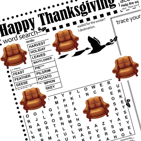Kid's Thanksgiving Activity Page
