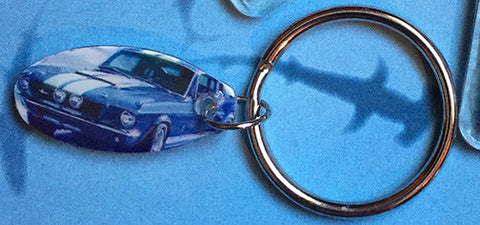 Car US Postage Stamp Key Chains