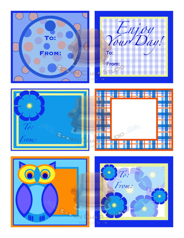 Everyday Gift Tags - Blue