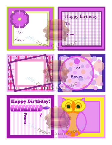 Everyday Gift Tags - Pink
