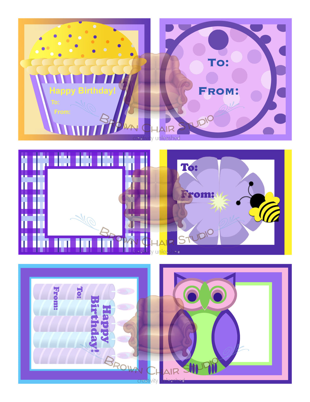 Everyday Gift Tags - Purple