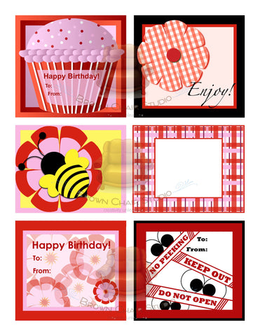 Everyday Gift Tags - Red