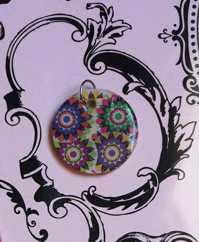 Kaleidoscope Floral Stamp Charm