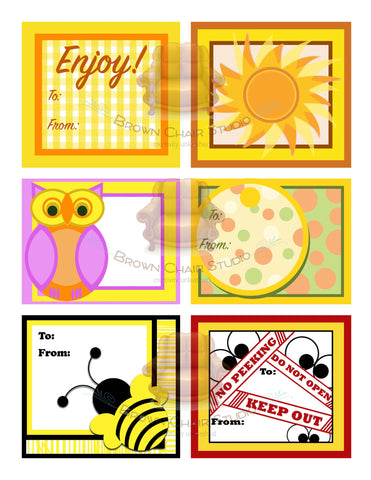 Everyday Gift Tags - Yellow