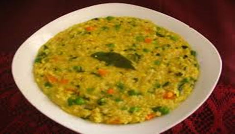 Veg Khichdi with brown rice and moong dal