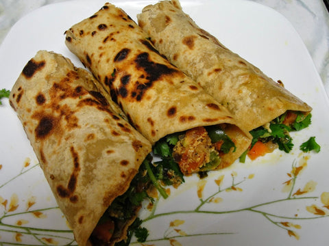 Veg/Chicken Kati Rolls + Health Juice