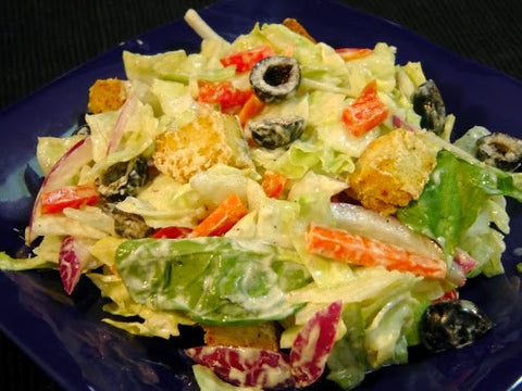 Salad with Yoghurt Dressings