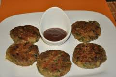 Veg/Chicken Cutlets with Tomato-date Chutney