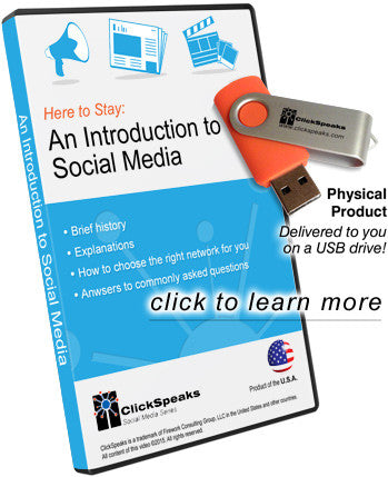 Here to Stay: An Introduction to Social Media - on USB Drive