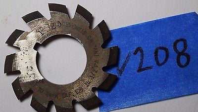 "Used No 1- 20DP Involute Gear Cutter HSS -14.5 PA 135T-rack  USA 7/8"" bore"