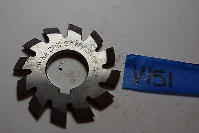 "Used No 1- 12P Involute Gear Cutter HS -20 PA  . 1"" Arbor V151 Made in China"