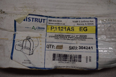 "Qty:10 UNISTRUT P1121 EG  4"" UNIVERSAL PIPE CLAMP rigid, EMT, GRC, IMC conduit"