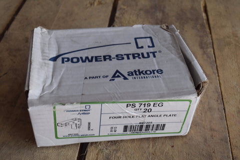 "Power-Strut PS 719 EG 4-Hole Flat Corner ""L"" Splice Plate Channel 20/box"