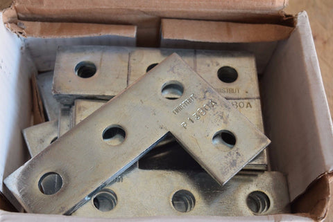 "Power-Strut PS719 EG 4-Hole Flat Corner ""L"" Splice Plate Channel 20/box"