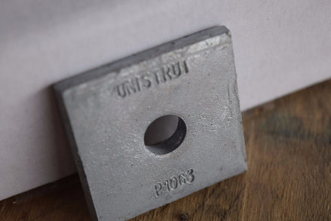 "Unistrut P1063 HG 3/8"" Hot Dip Galvanized Square Washer Channel QTY 25"