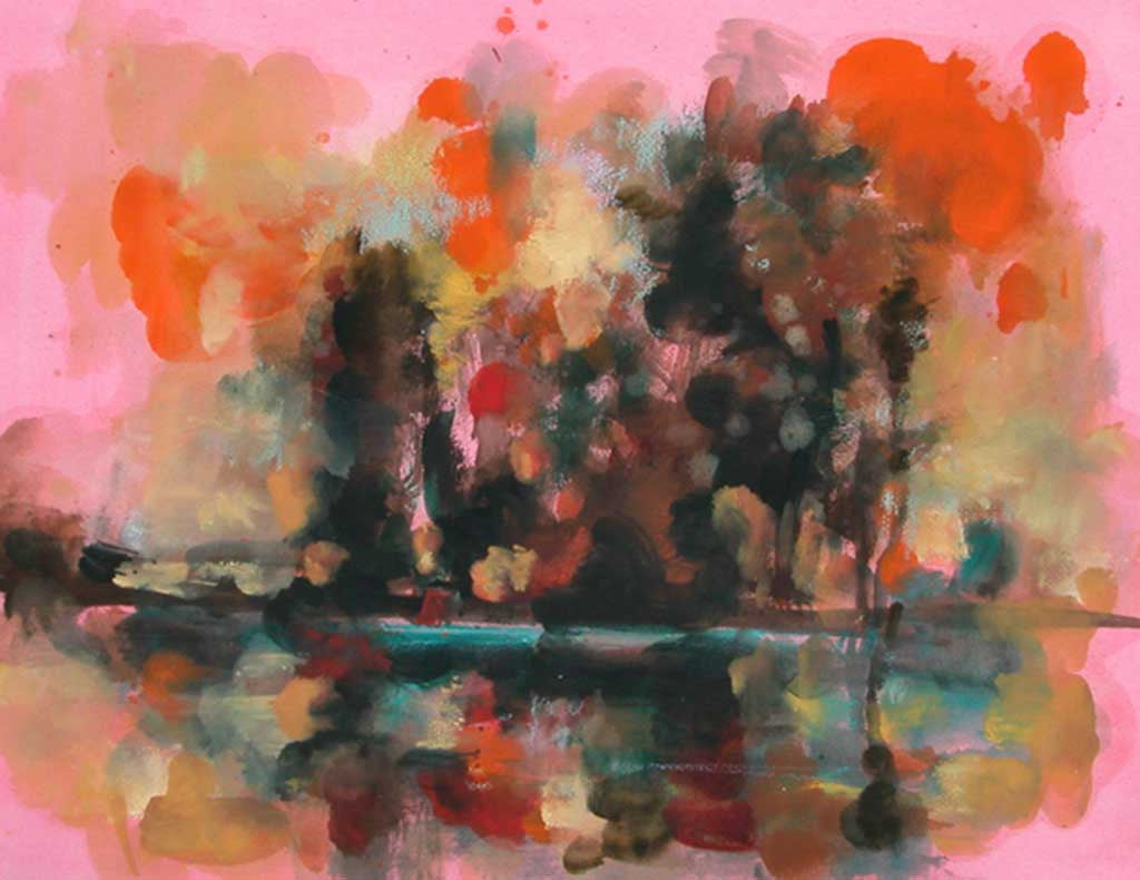 study for pink landscape II