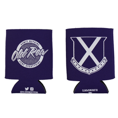 Old Row Tailgate Koozie (Purple w/ White)