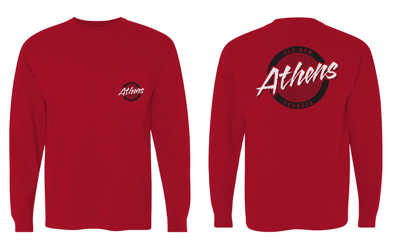 Athens, Georgia Circle Logo Longsleeve Pocket Tee