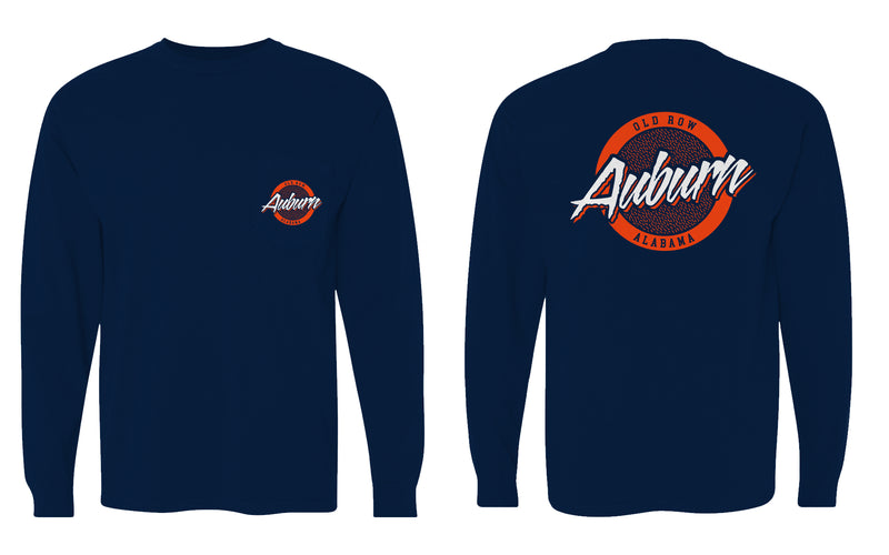 Auburn, Alabama Circle Logo Longsleeve Pocket Tee