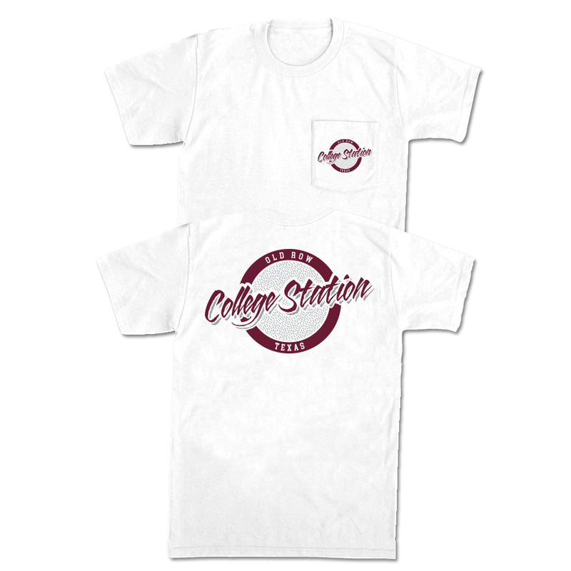 College Station, Texas Circle Logo Pocket Tee