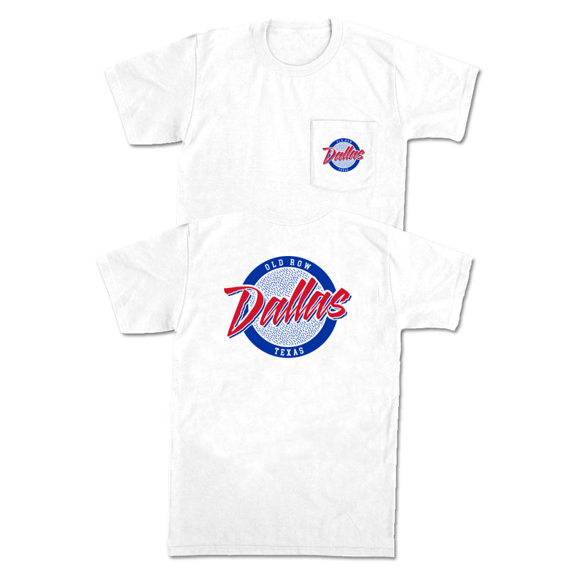 Dallas, Texas Circle Logo Pocket Tee