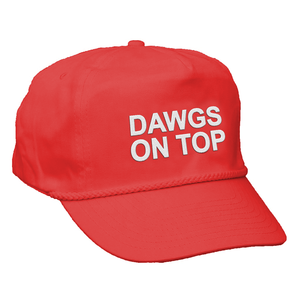 Dawgs on Top Rope Hat (Red) c7a23d0aff8