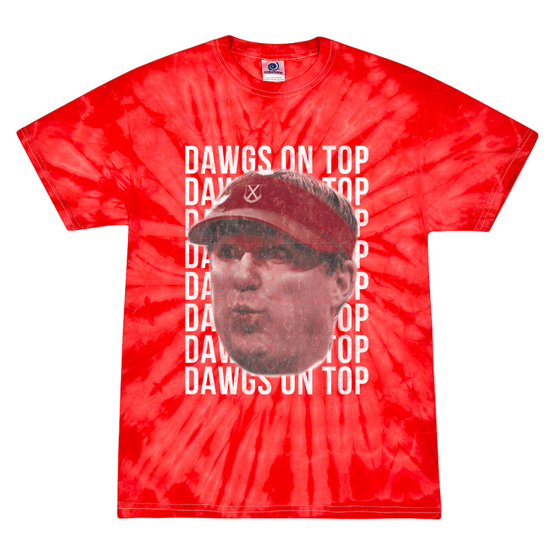 Dawgs On Top Tie Dye Tee