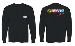 Drive Fast Eat Ass Long Sleeve Pocket Tee