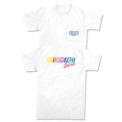 Drive Fast Eat Ass Pocket Tee (White)