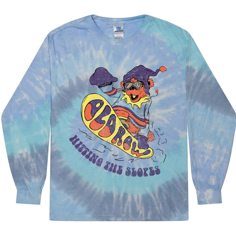 Hitting the Slopes Tie Dye Long Sleeve Tee