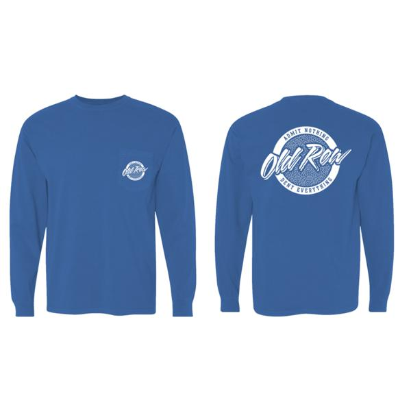 Old Row Tailgate Long Sleeve Pocket Tee (Blue)