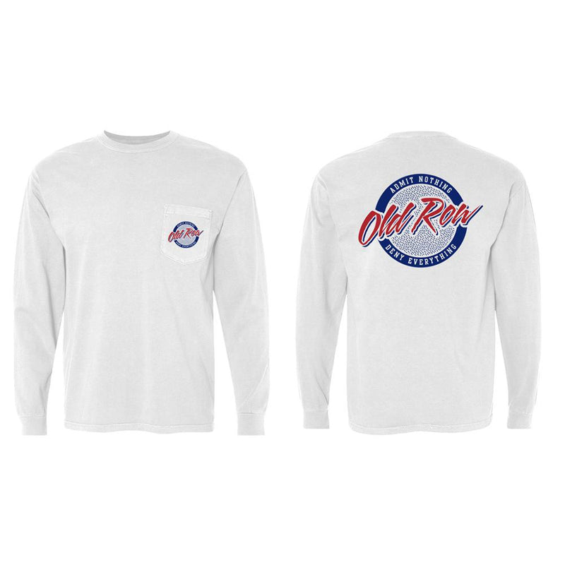 Old Row Retro Circle Long Sleeve Pocket Tee