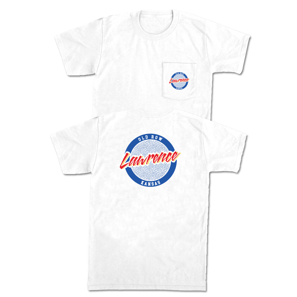 Lawrence, Kansas Circle Logo Pocket Tee