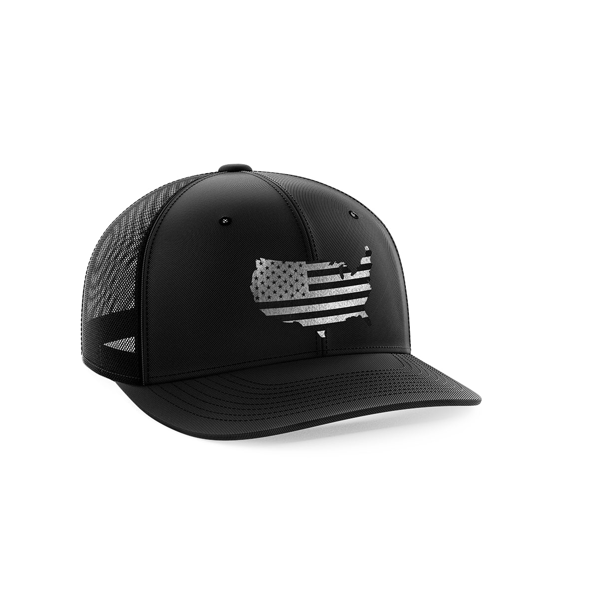 Continental USA Flag Black Patch Hat
