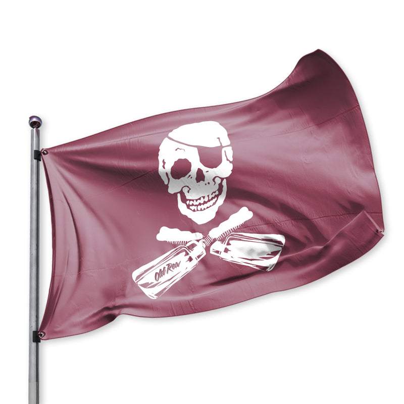 Old Row Maroon Pirate Flag
